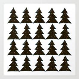 Evergreen Geo Art Print