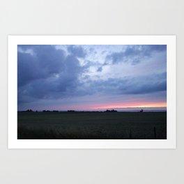 Barseback Sunset  Art Print