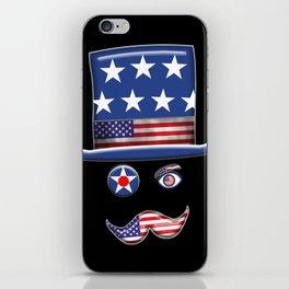 Stars And Stripes Man. iPhone Skin