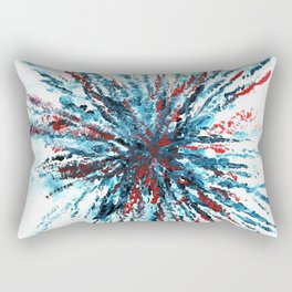 Firework Abstract Painting Rectangular Pillow
