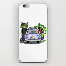 Wash Me Cats iPhone Skin