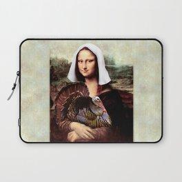 Mona Lisa Thanksgiving Pilgrim Laptop Sleeve