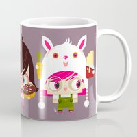 doll Mugs featuring Doll by Geek