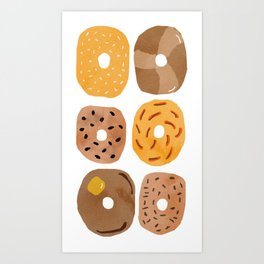 Bagels for Breakfast Art Print