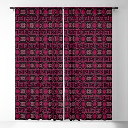 Ornate Greek Bands in Pink Blackout Curtain