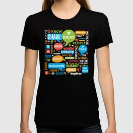 Social Media Infographic Style Design T-shirt