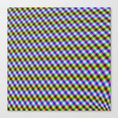 Crosshatch in Neon Canvas Print