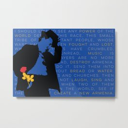 WILLIAM SAROYAN - Armenian Genocide Metal Print