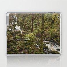 Lodore Falls waterfall after heavy rain. Borrowdale, Cumbria, UK. Laptop & iPad Skin