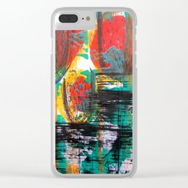 Smashed tulips Clear iPhone Case