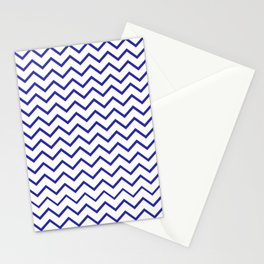 Zigzagged (Navy & White Pattern) Stationery Cards