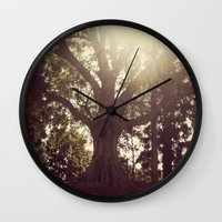 botanical Wall Clocks featuring Botanical by radiantlee