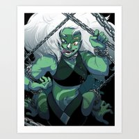 malachite Art Prints featuring It Came from Beneath the Sea by KingsDarga