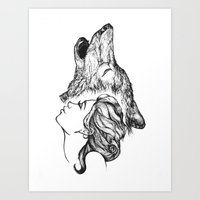 Carry my dreams to the moon. Art Print