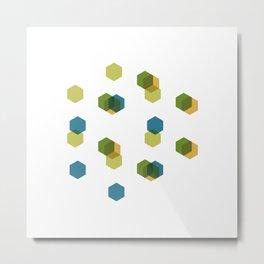 #408 Cubiverse – Geometry Daily Metal Print