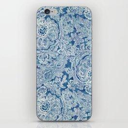 Blue Boho Paisley Pattern iPhone Skin