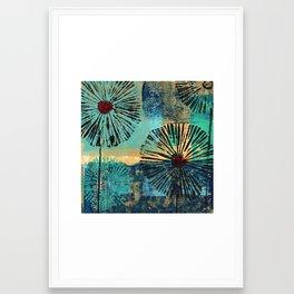 Flower Puffs Too Framed Art Print