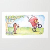 Dude, Where's My Bike? Art Print