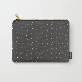 Trendy pink green gray faux gold cute polka dots Carry-All Pouch