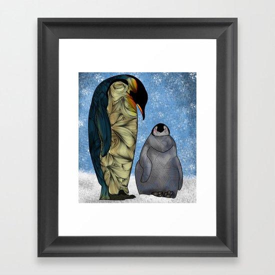 Emperor Penguins Framed Art Print