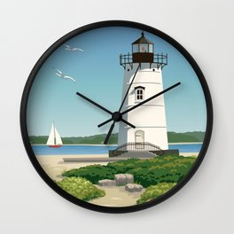 Martha's Vineyard Edgartown Lighthouse Wall Clock