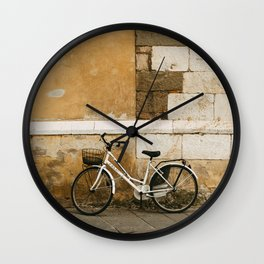 Tuscany bicycles. Lucca serie - fine art travel photography Wall Clock