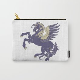 Blue Rearing Pegasus Carry-All Pouch