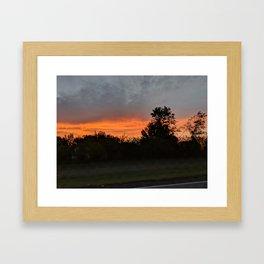North Dakota Sunrise Framed Art Print
