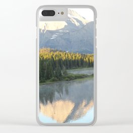 Swiftcurrent Lake, Glacier National Park - Montana Clear iPhone Case