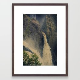 Barron Falls in retro style Framed Art Print