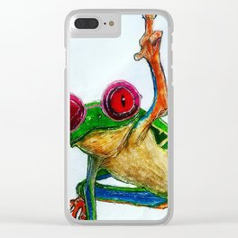 cool frog Clear iPhone Case