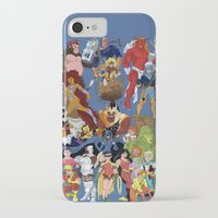 teen titans iPhone & iPod Cases featuring Teen Titans by poopsmoothie