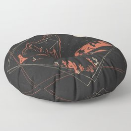 Heaven's Wild Coyote Floor Pillow