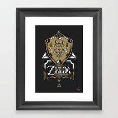 Zelda v89 Framed Art Print