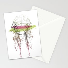 Indian woman (summer version) Stationery Cards