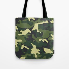 Army Green Camouflage Camo Pattern Tote Bag