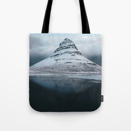 Iceland Mountain Reflection - Landscape Photography Tote Bag