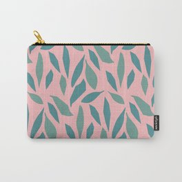Jungle Leaf Confetti Pattern Carry-All Pouch