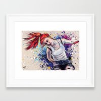 hayley williams Framed Art Prints featuring Hayley Williams Energy Explosion by Adora Chloe
