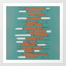 Brick By Orange Brick Art Print
