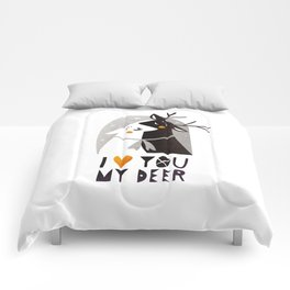 I love you my deer Comforters