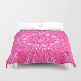 Pink Mandala Explosion Duvet Cover