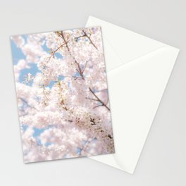 Japanese Cherry Blossom Photo | Plantlife Flower Photography | Atmospheric Sakura Blossom Close-up Stationery Cards