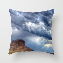 Butte of Chaco Canyon Throw Pillow