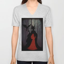 Maleficent & Aurora as One Unisex V-Neck