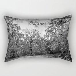 Black and white forest Rectangular Pillow