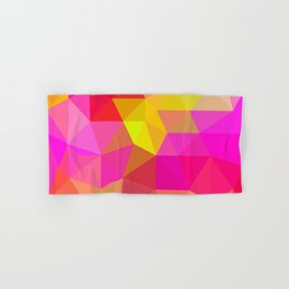 Citrus Candy Low Poly Hand & Bath Towel