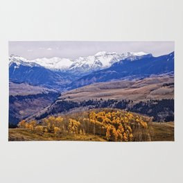 Mountain majesty and autumn gold Rug