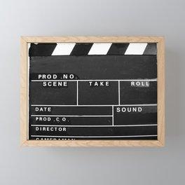 Film Movie Video production Clapper board Framed Mini Art Print