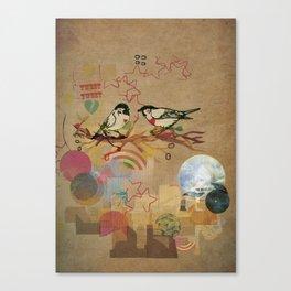 Two Little Birds Canvas Print